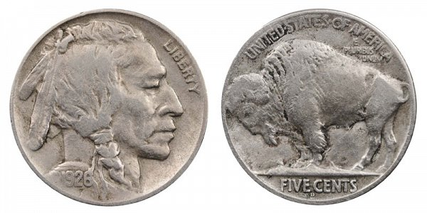 1926 D Indian Head Buffalo Nickel
