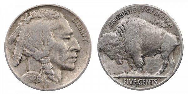 1926 D Indian Head Buffalo Nickel