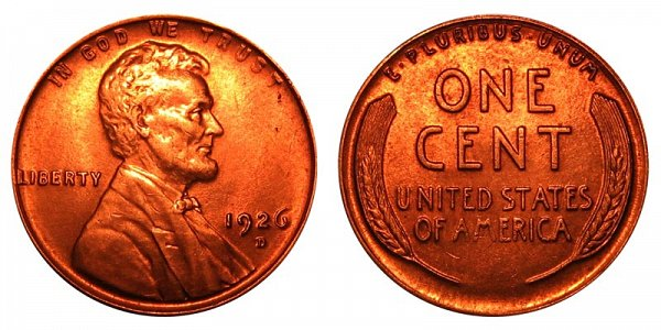 1926 D Lincoln Wheat Cent Penny