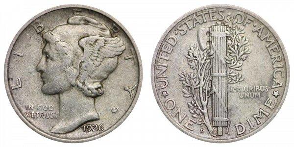 1926 D Silver Mercury Dime