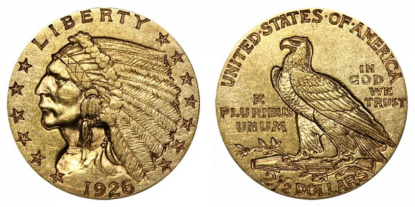 1926 Indian Head $2.50 Gold Quarter Eagle - 2 1/2 Dollars