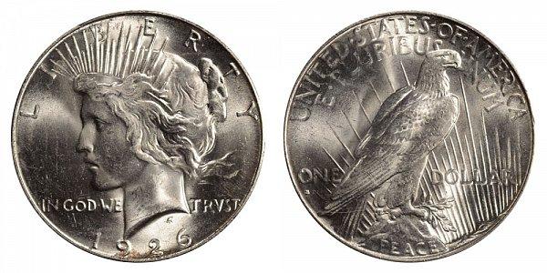 1926 S Peace Silver Dollar