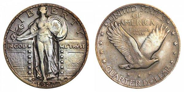1927 D Standing Liberty Quarter