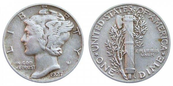 1927 Silver Mercury Dime