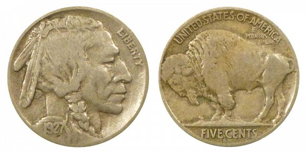 1927 S Indian Head Buffalo Nickel