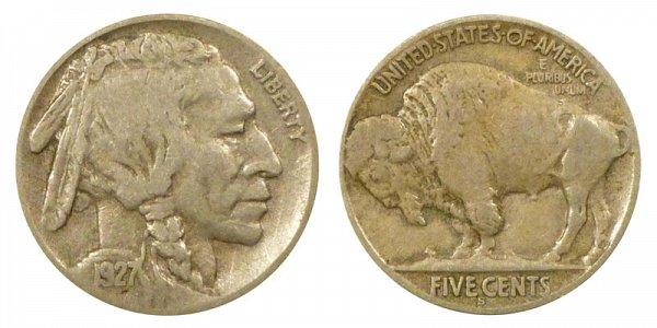 1927 S Indian Head Buffalo Nickel