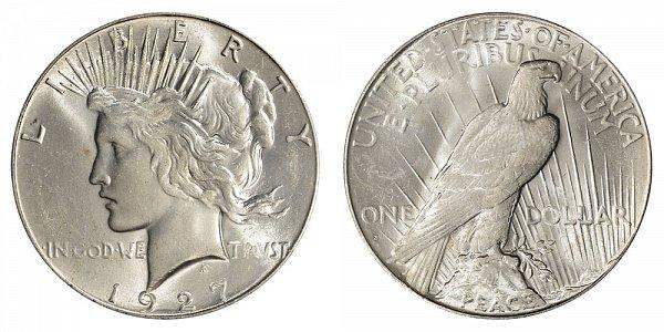 1927 S Peace Silver Dollar