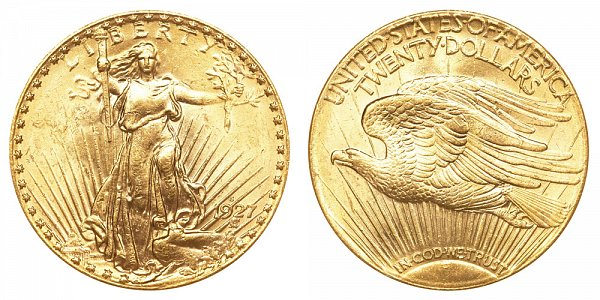 1927 S Saint Gaudens $20 Gold Double Eagle - Twenty Dollars