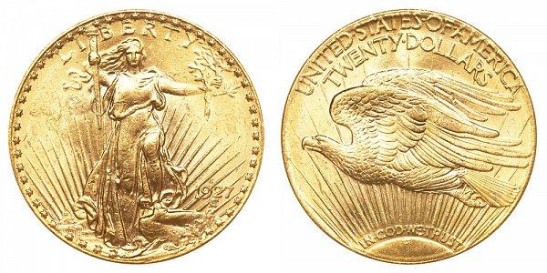 1927 S Saint Gaudens $20 Gold Double Eagle - Twenty Dollars