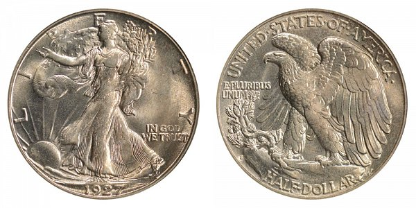 1927 S Walking Liberty Silver Half Dollar