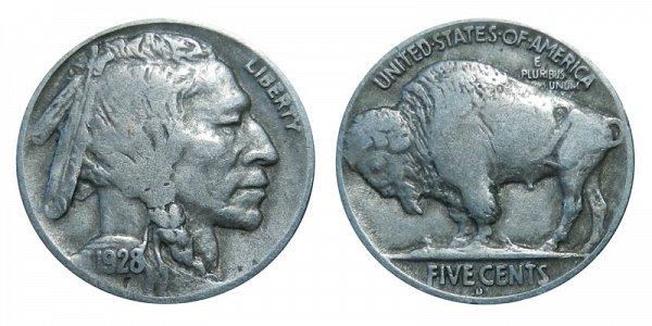 1928 D Indian Head Buffalo Nickel