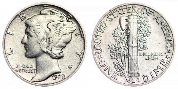 1928 Silver Mercury Dime