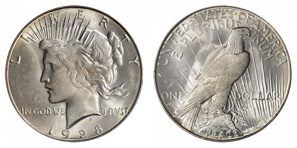 1928 S Peace Silver Dollar