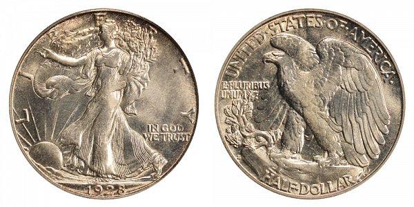1928 S Walking Liberty Silver Half Dollar