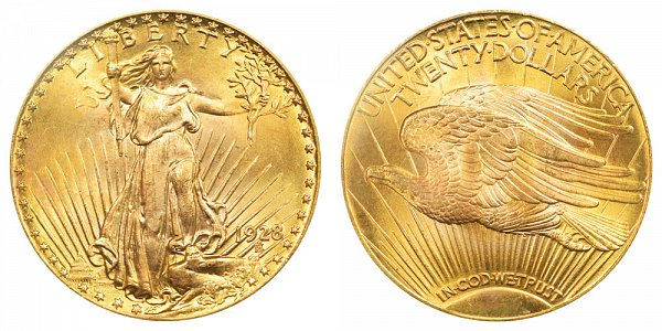 1928 Saint Gaudens $20 Gold Double Eagle - Twenty Dollars