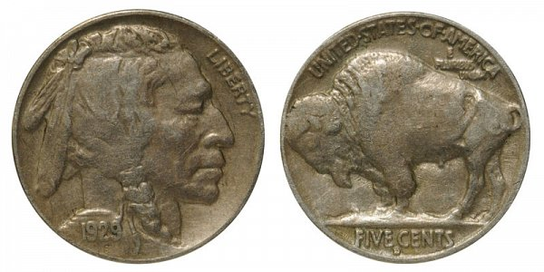1929 D Indian Head Buffalo Nickel