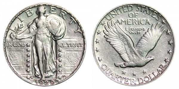 1929 S Standing Liberty Quarter