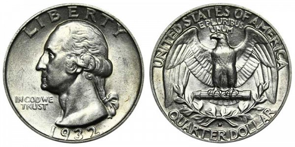 1932 D Washington Silver Quarter