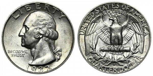 1932 D Washington Silver Quarter
