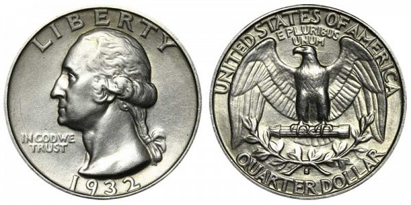 1932 S Washington Silver Quarter