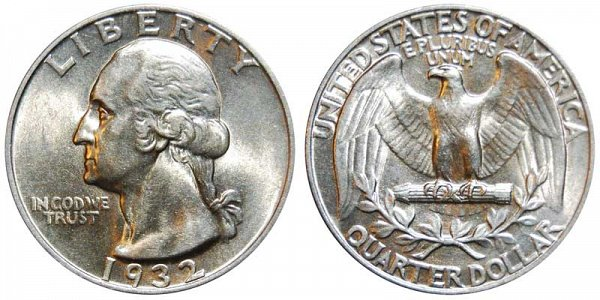 1932 Washington Silver Quarter