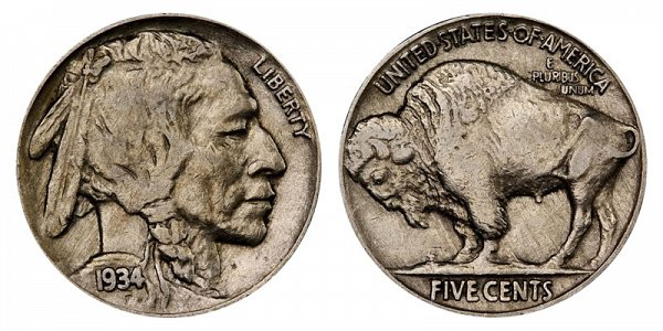 1934 Indian Head Buffalo Nickel