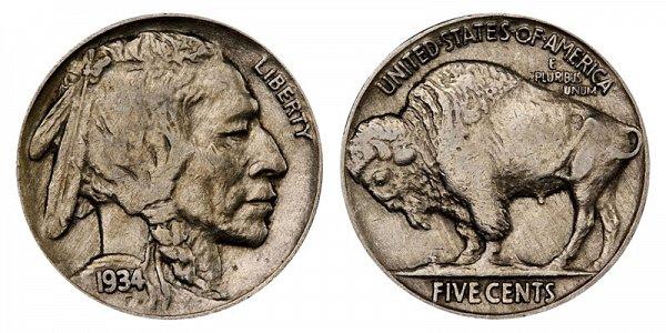 1934 Indian Head Buffalo Nickel