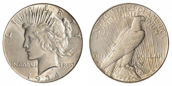1934 S Peace Silver Dollar