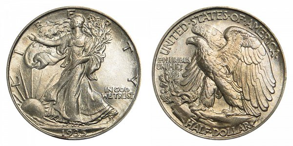 1935 Walking Liberty Silver Half Dollar
