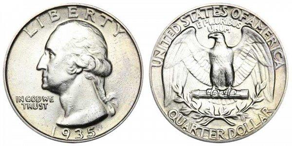 1935 Washington Silver Quarter