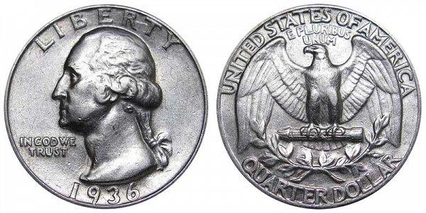 1936 Washington Silver Quarter