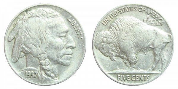 1937 Indian Head Buffalo Nickel