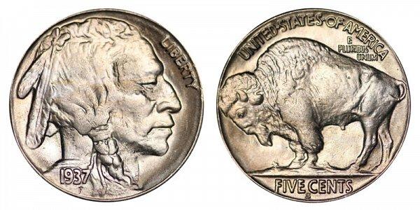 1937 S Indian Head Buffalo Nickel