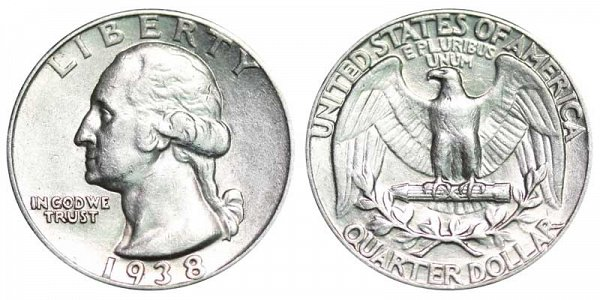 1938 Washington Silver Quarter