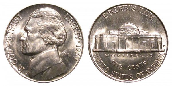 1939 D Jefferson Nickel