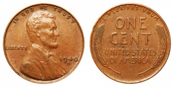 1940 D Lincoln Wheat Cent Penny