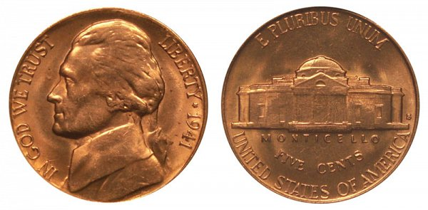 1941 S Jefferson Nickel