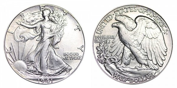 1941 Walking Liberty Silver Half Dollar