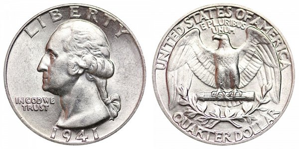 1941 Washington Silver Quarter