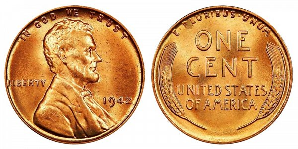1942 Lincoln Wheat Cent Penny