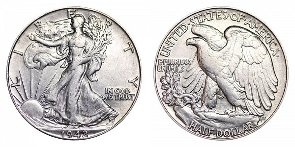 1942 Walking Liberty Silver Half Dollar