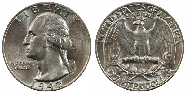 1942 Washington Silver Quarter