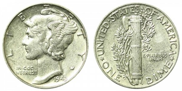 1943 Silver Mercury Dime