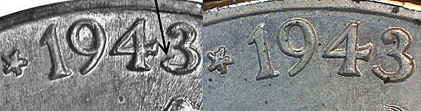 1943 P 3 Over 2 Wartime Jefferson Nickel - 1943 3/2 Silver War Nickel