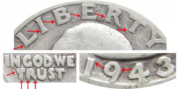 1943 S Doubled Die Obverse (DDO) Washington Silver Quarter