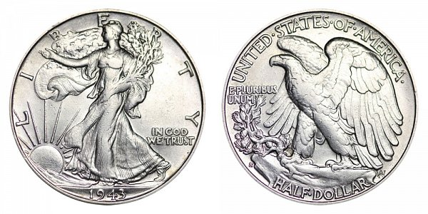 1943 S Walking Liberty Silver Half Dollar