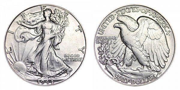 1944 D Walking Liberty Silver Half Dollar