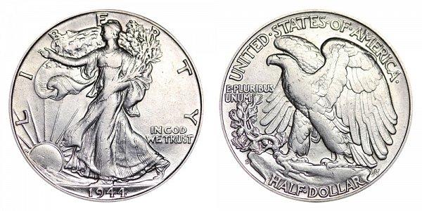 1944 D Walking Liberty Silver Half Dollar