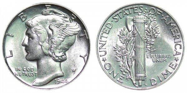 1944 Silver Mercury Dime