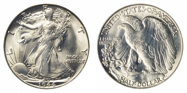 1944 S Walking Liberty Silver Half Dollar